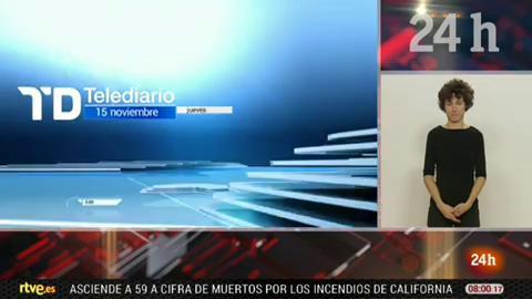 Telediario - 8 horas - 15/11/18 - Lengua de signos