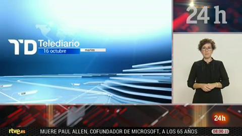 Telediario - 8 horas - 16/10/18 - Lengua de signos