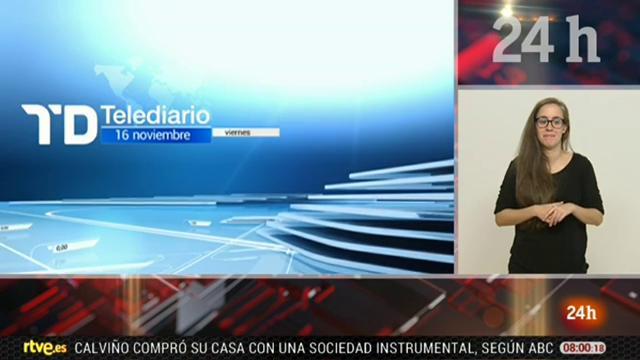 Telediario - 8 horas - 16/11/18 - Lengua de signos