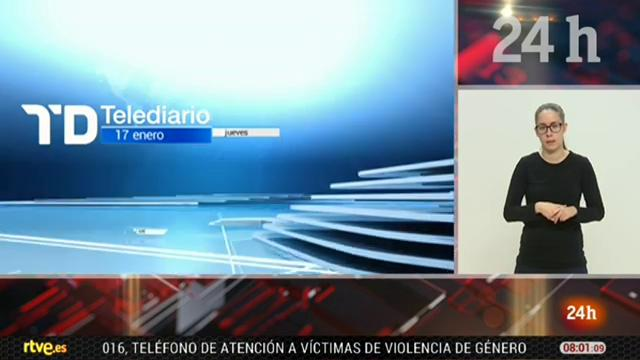 Telediario - 8 horas - 17/01/19 - Lengua de signos
