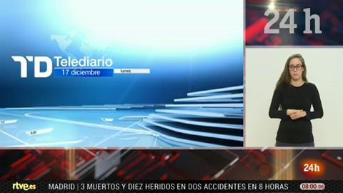 Telediario - 8 horas - 17/12/18 - Lengua de signos