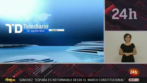 Telediario - 8 horas - 18/09/18 - Lengua de signos