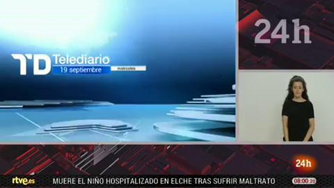 Telediario - 8 horas - 19/09/18 - Lengua de signos