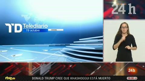 Telediario - 8 horas - 19/10/18 - Lengua de signos