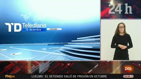 Telediario - 8 horas - 19/12/18 - Lengua de signos