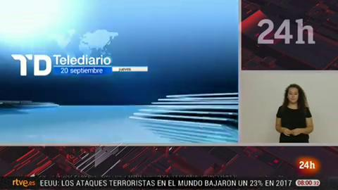 Telediario - 8 horas - 20/09/18 - Lengua de signos