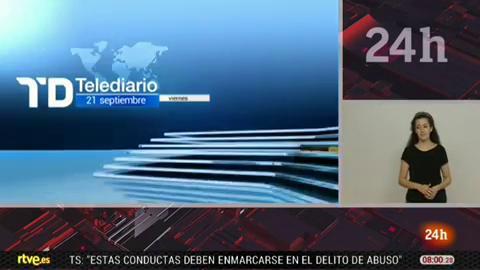 Telediario - 8 horas - 21/09/18 - Lengua de signos