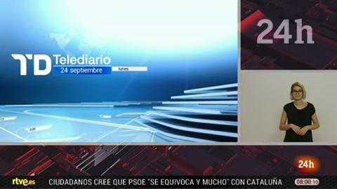 Telediario - 8 horas - 24/09/18 - Lengua de signos