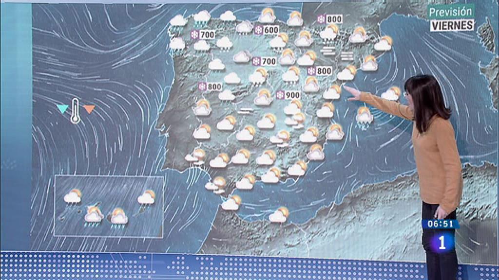 Temperaturas significativamente bajas en amplias zonas de interior peninsular