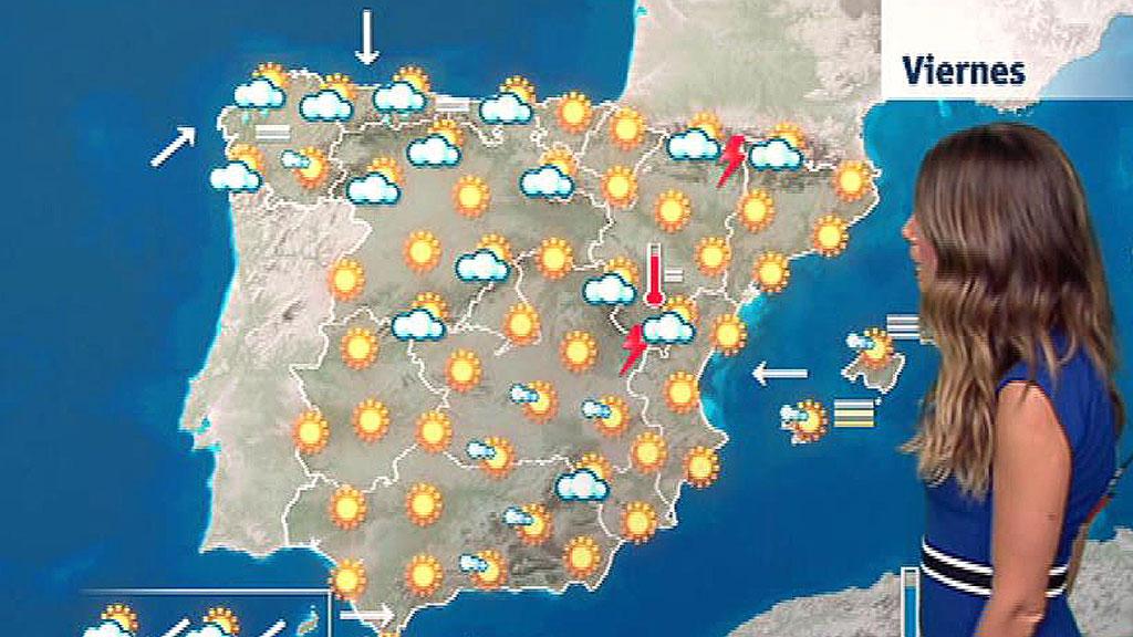 Las temperaturas suben en casi toda la península y superarán los 40 grados en el interior