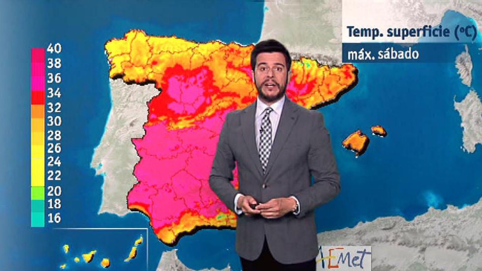 Las temperaturas vuelven a subir en toda España con valores por encima de lo normal