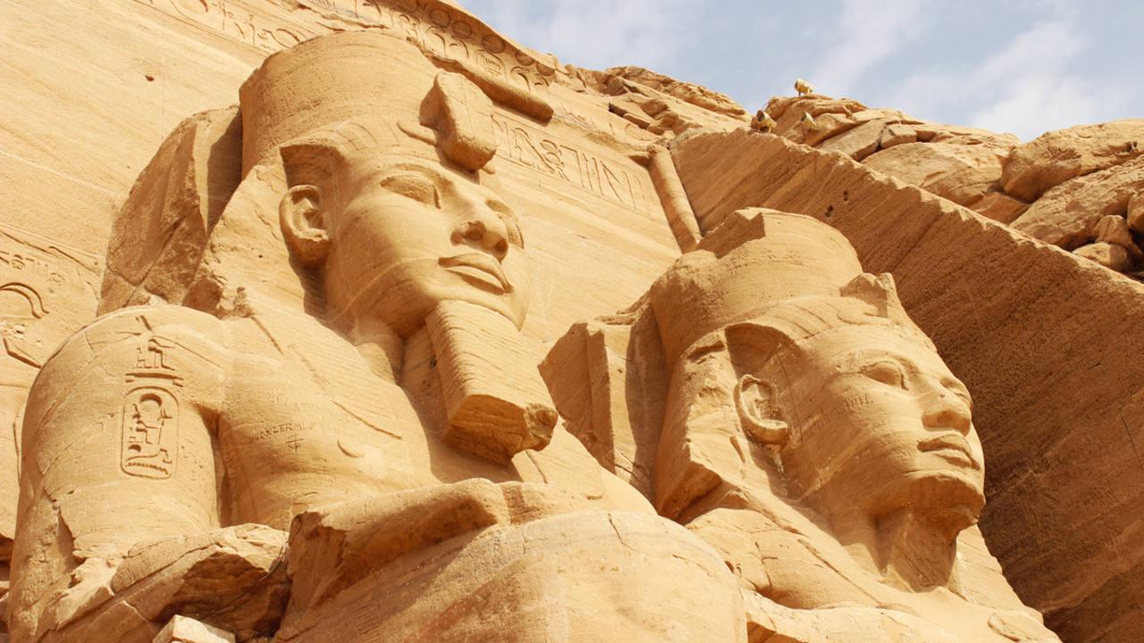 El templo de Abu Simbel, Egipto