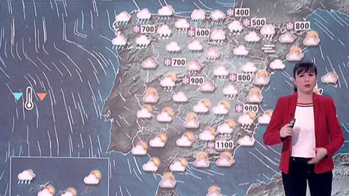 El temporal del norte provoca avisos por nieve en el Pirineo y la cornisa cantábrica