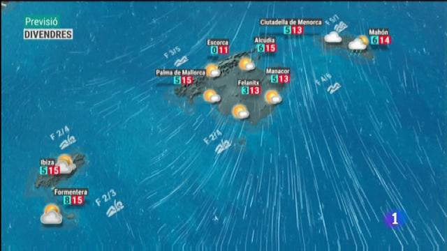 El temps a les Illes Balears - 03/01/19