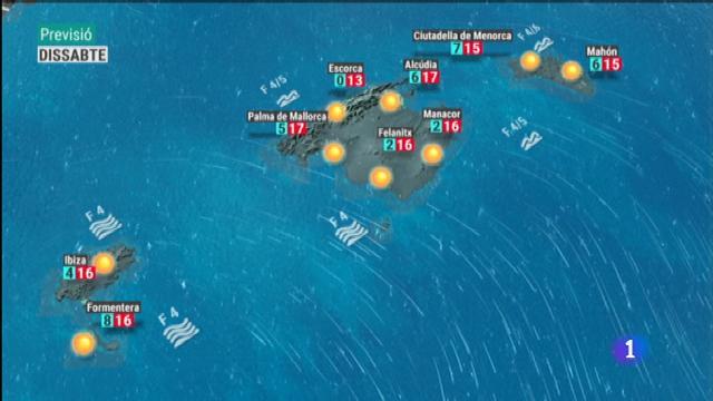 El temps a les Illes Balears - 04/01/19