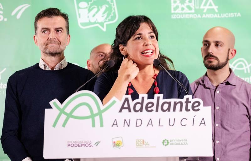 Teresa Rodríguez comparece tras los resultados de las elecciones andaluzas