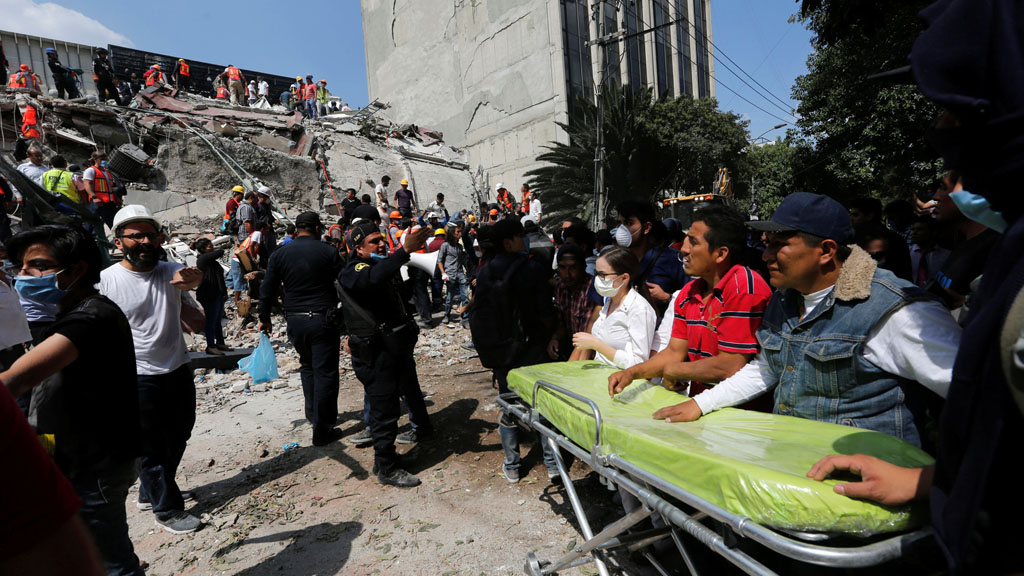 Un terremoto de magnitud 7,1 en México deja más de un centenar de muertos