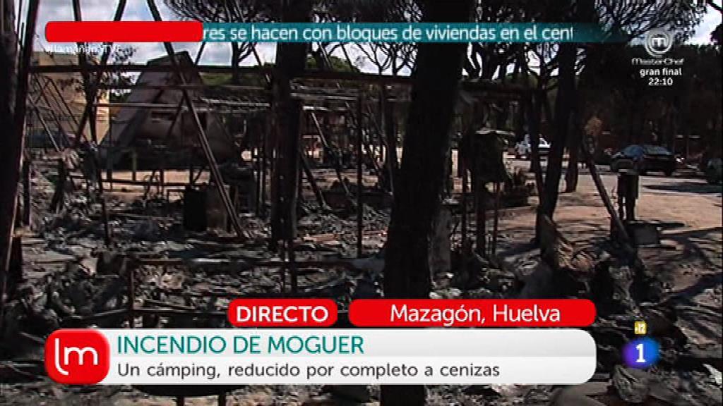 Terribles efectos del incendio de Moguer