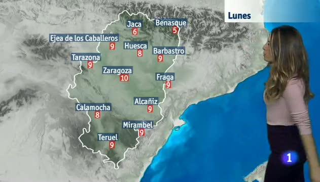 El tiempo en Aragón - 08/01/2018