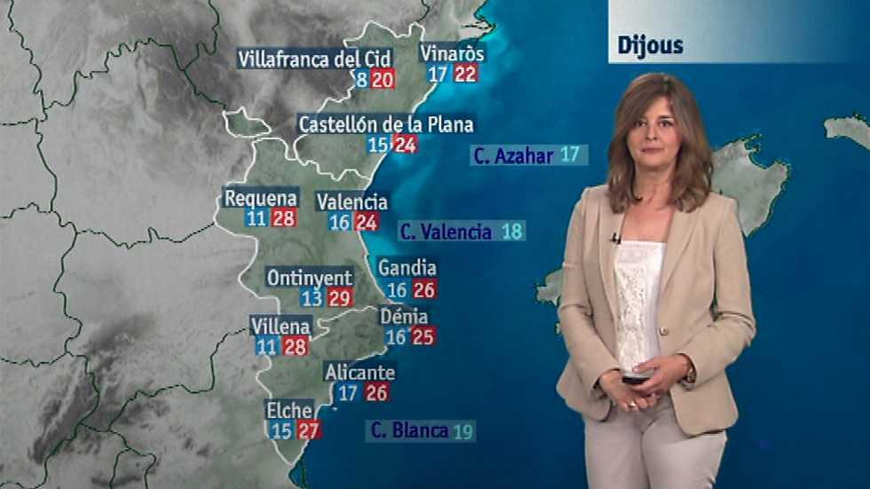 El tiempo en la Comunidad Valenciana - 01/06/16