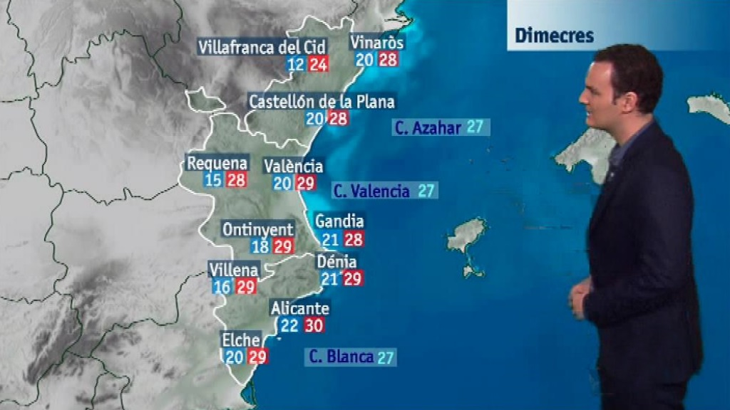 El tiempo en la Comunidad Valenciana - 18/09/18