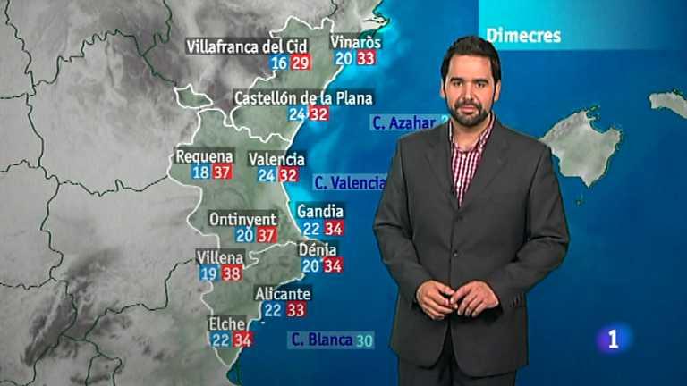 El tiempo en la Comunidad Valenciana - 31/07/12