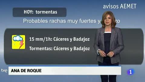 El tiempo en Extremadura - 24/05/18