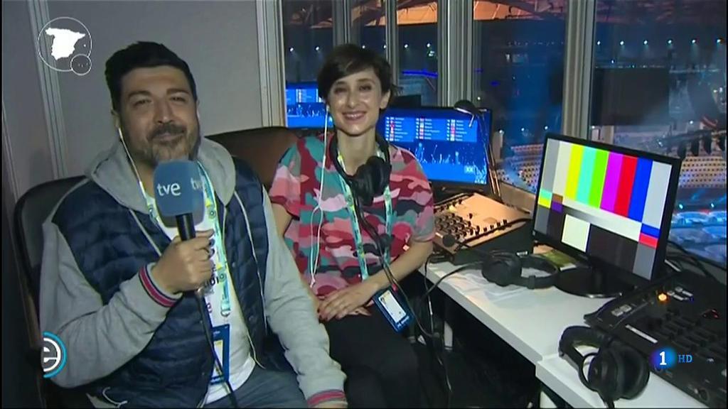 España Directo - Tony Aguilar y Julia Varela, listos para comentar la primera semifinal