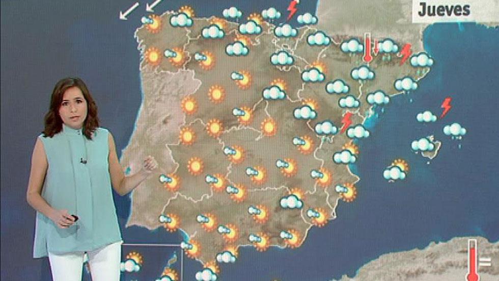 Tormentas fuertes en Cataluña y Baleares con temperaturas a la baja