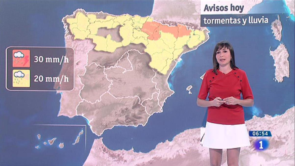 Tormentas fuertes en el norte y descenso general de temperaturas