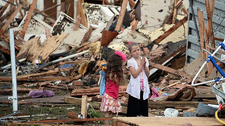 """""""El tornado de Oklahoma fue como una licuadora gigante que arrasó con todo"""""""