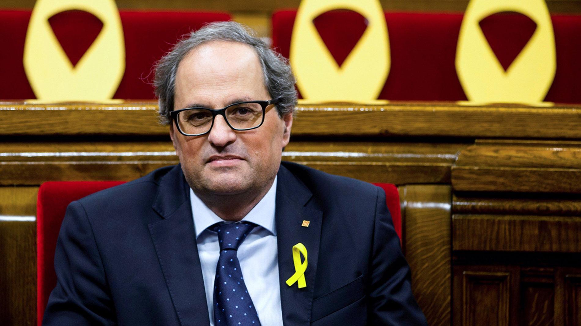Torra pide al rey una reunión para explicarle la situación en Cataluña