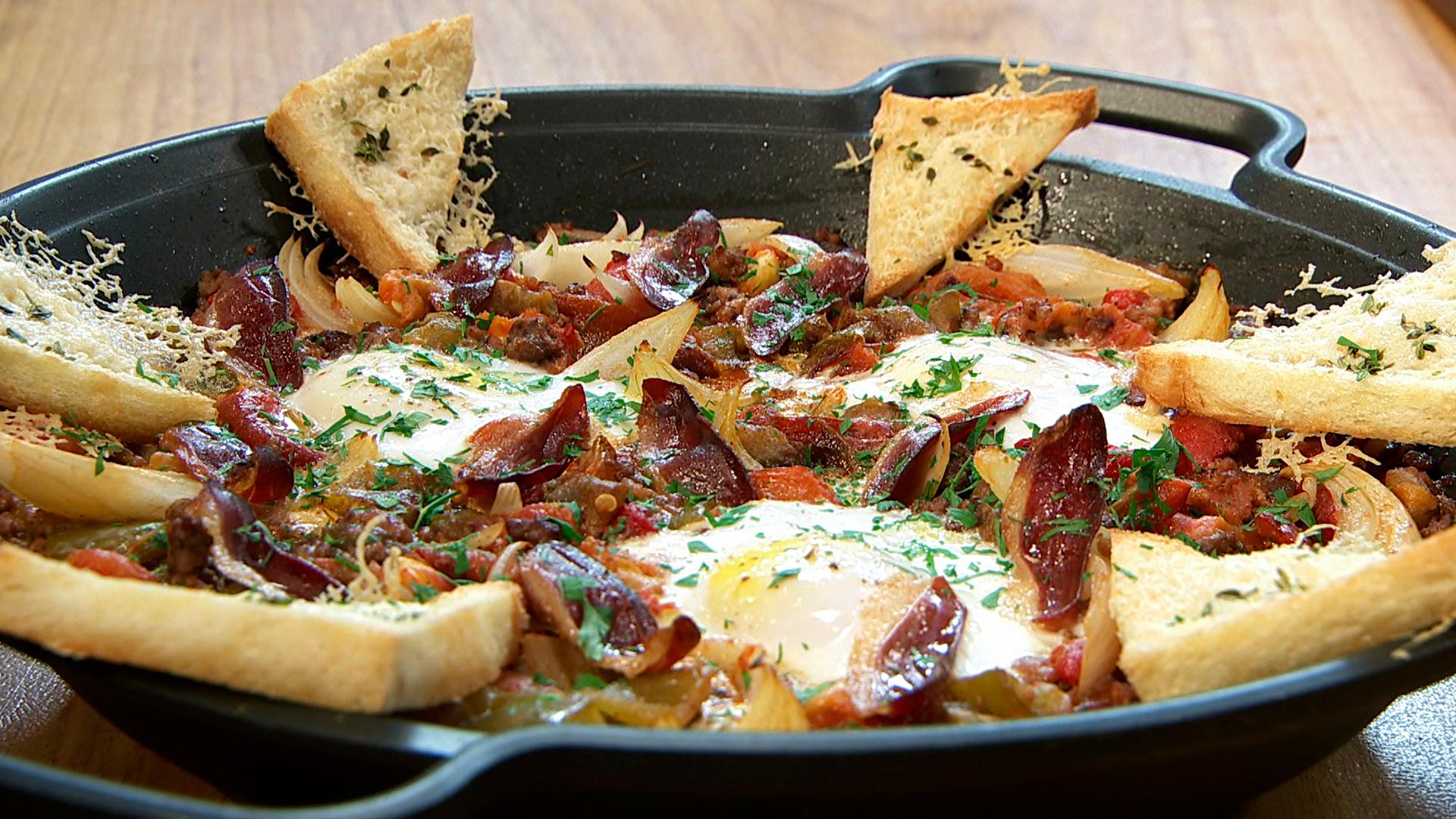 Torres en la cocina huevos al horno con verduras - Cocina al horno ...