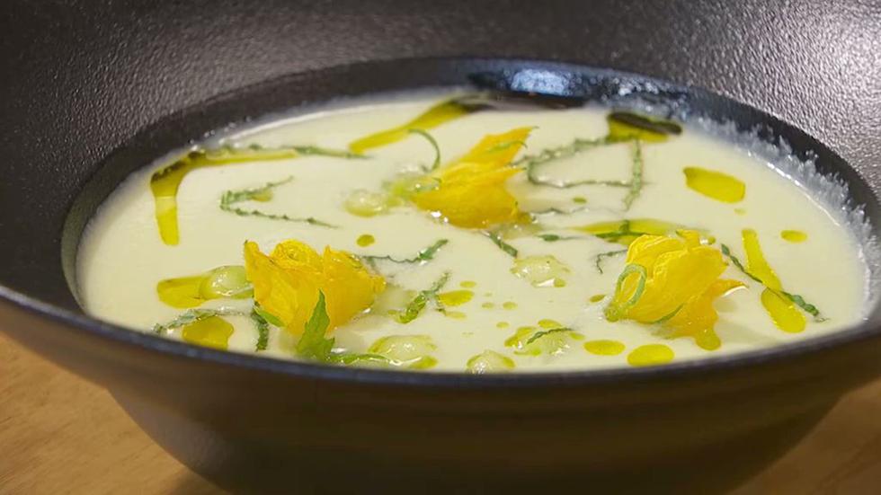 Receta de sopa fr a de pepino for Cocina hermanos torres