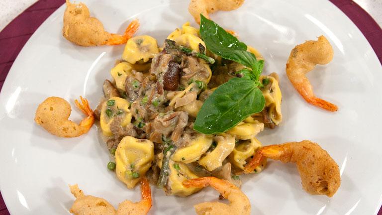Saber Cocinar - Tortellini en salsa de setas, albahaca y trigueros