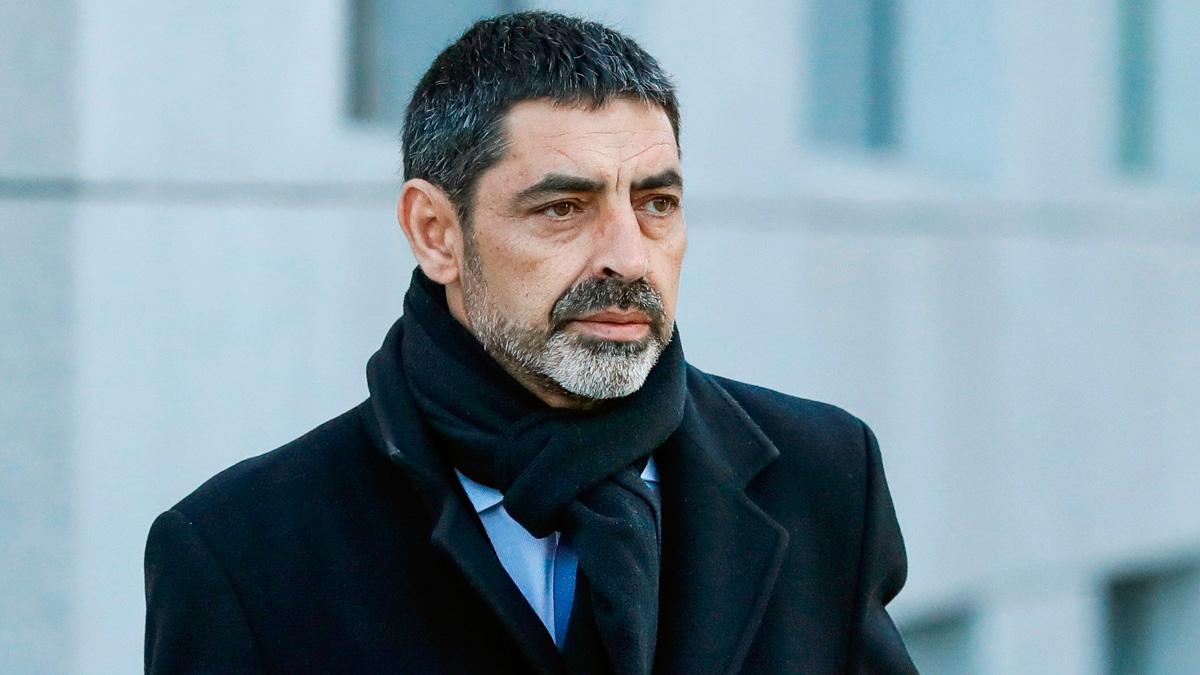 Trapero llega a la Audiencia Nacional para declarar investigado por sedición por el 1-O