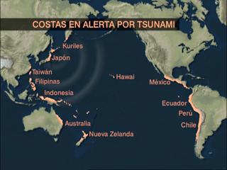 Ver vídeo 'Tras el seísmo de Japón se ha declarado la alerta de tsunami en una veintena de países de tres continentes'