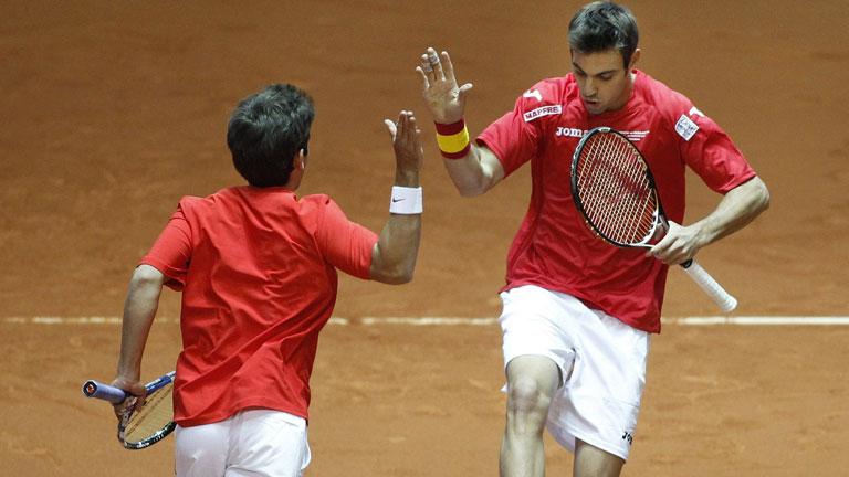 Los tres mejores puntos del partido de dobles