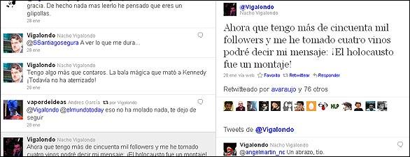 El Twitter de Nacho Vigalondo