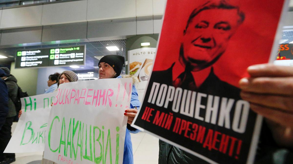 Ucrania detiene y deporta al expresidente de Georgia y principal opositor