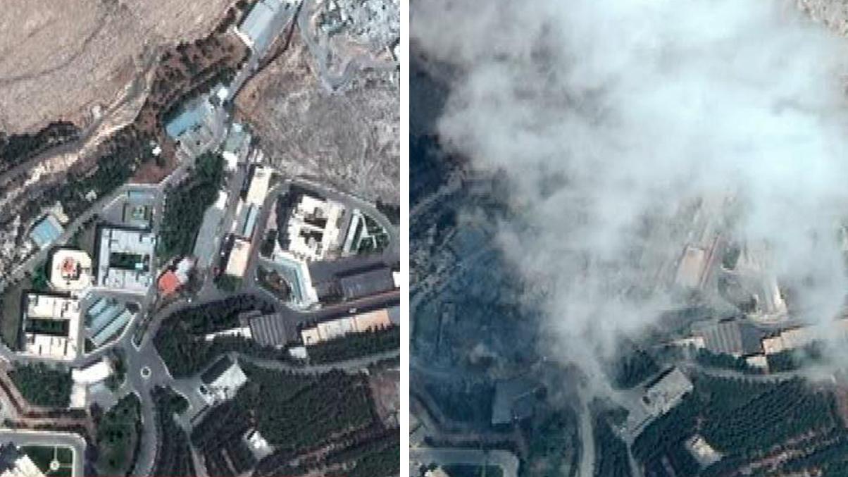 Últimas imágenes del antes y el después del bombardeo de EE.UU. sobre Siria