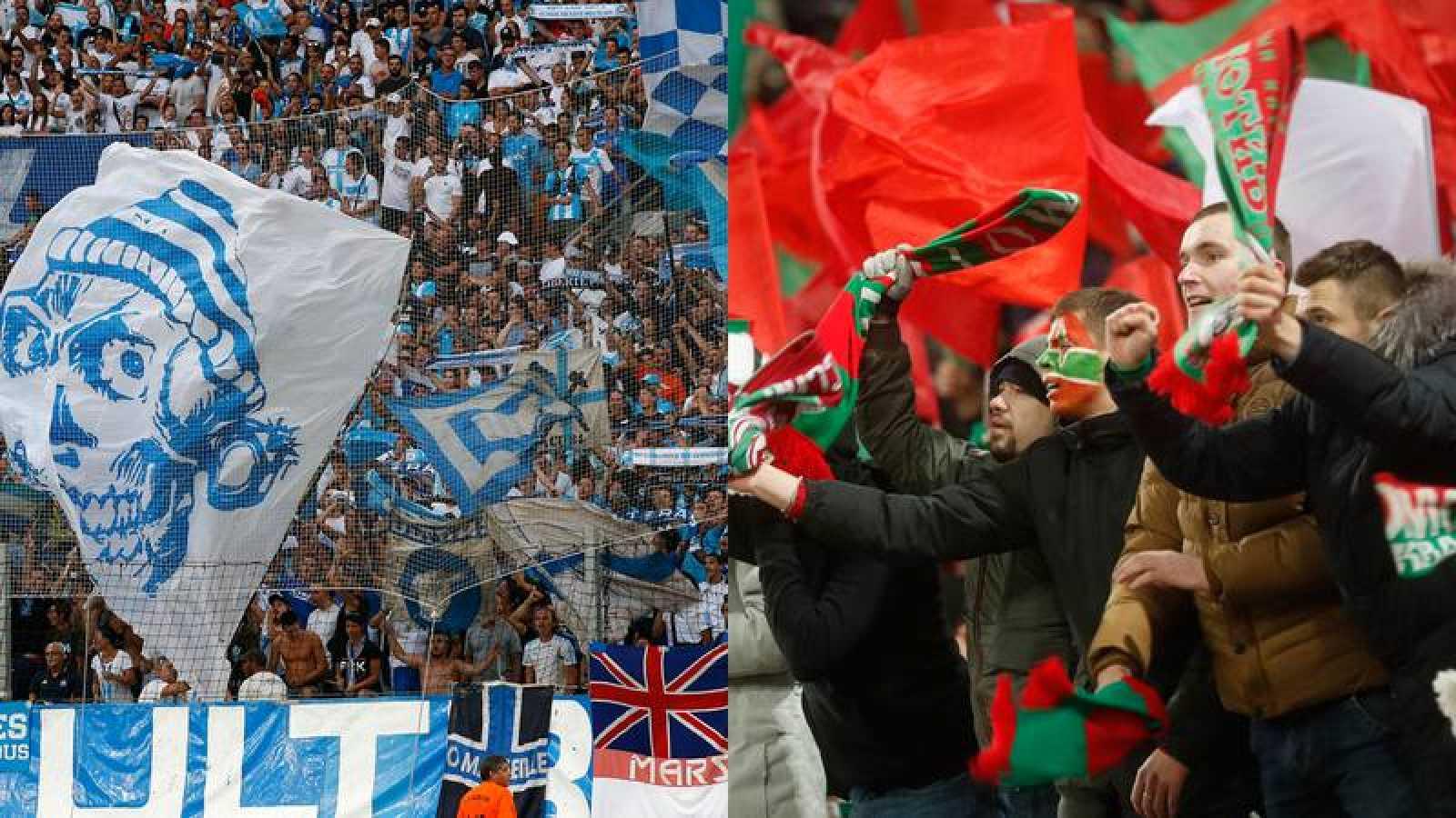 Los ultras del Lokomotiv y Marsella preocupan por su violencia