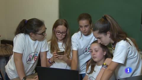 Unas niñas 11 años crean una app para donar comida