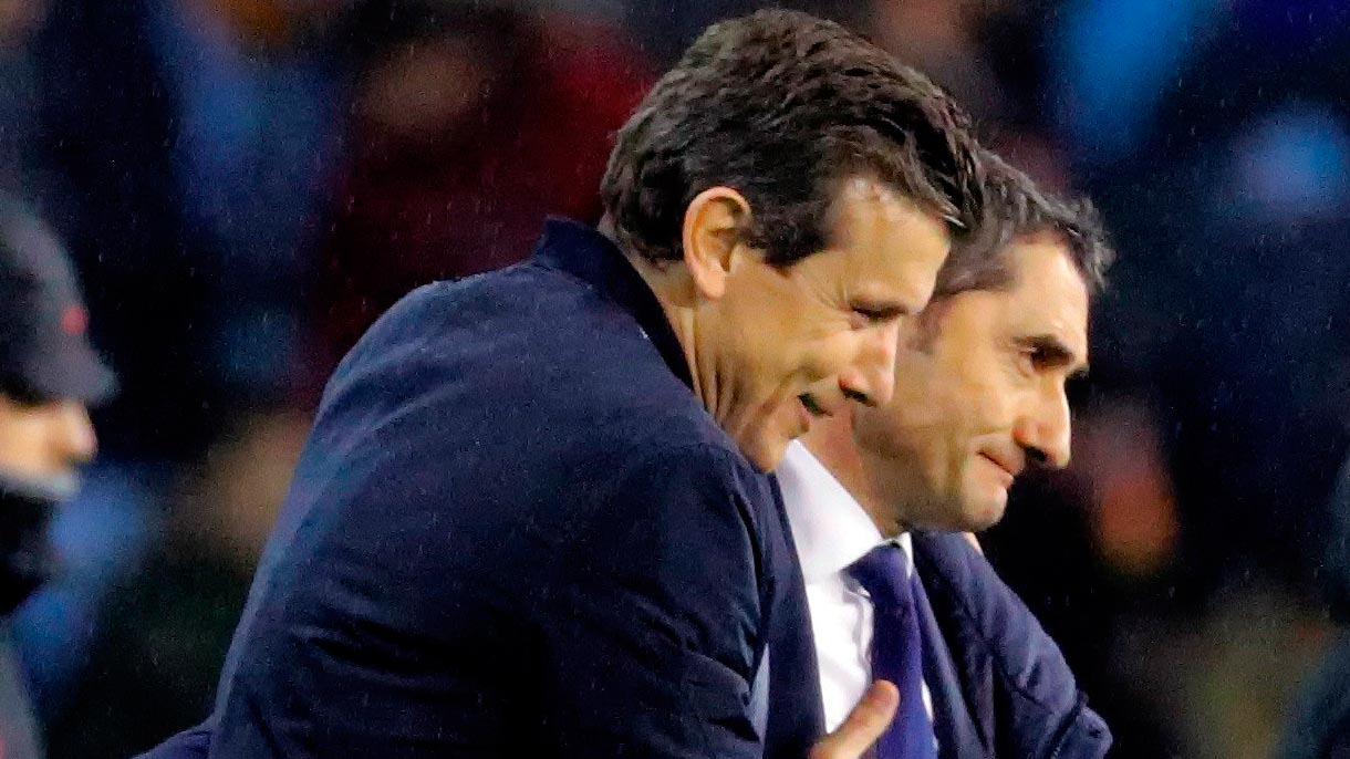 Unzué y Valverde, satisfechos con el empate