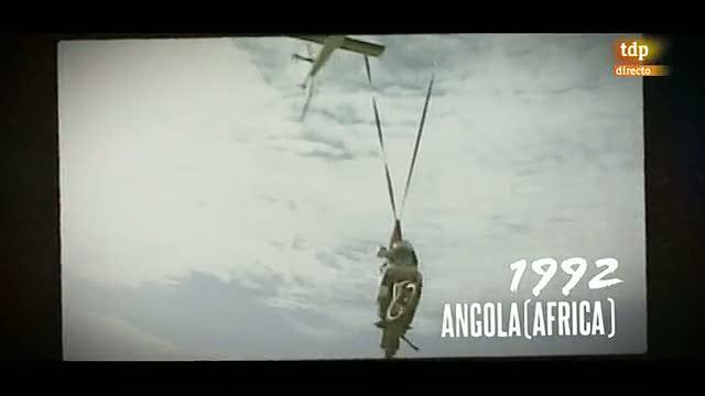 Un vado peligroso en el Dakar 1992