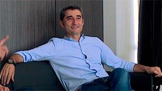 Valverde visita la ciudad deportiva del Barça