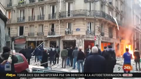 Varios heridos en una explosión en una panadería ne el centro de París