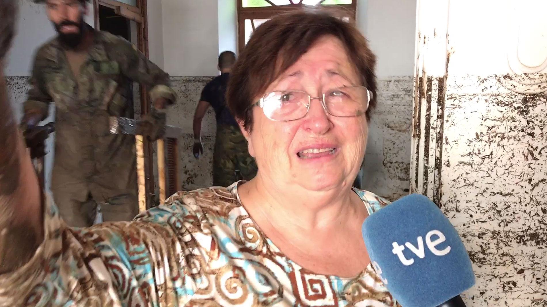 """Una vecina de Sant Llorenç: """"No nos ha quedado ni un mueble y aún así hemos tenido suerte"""""""