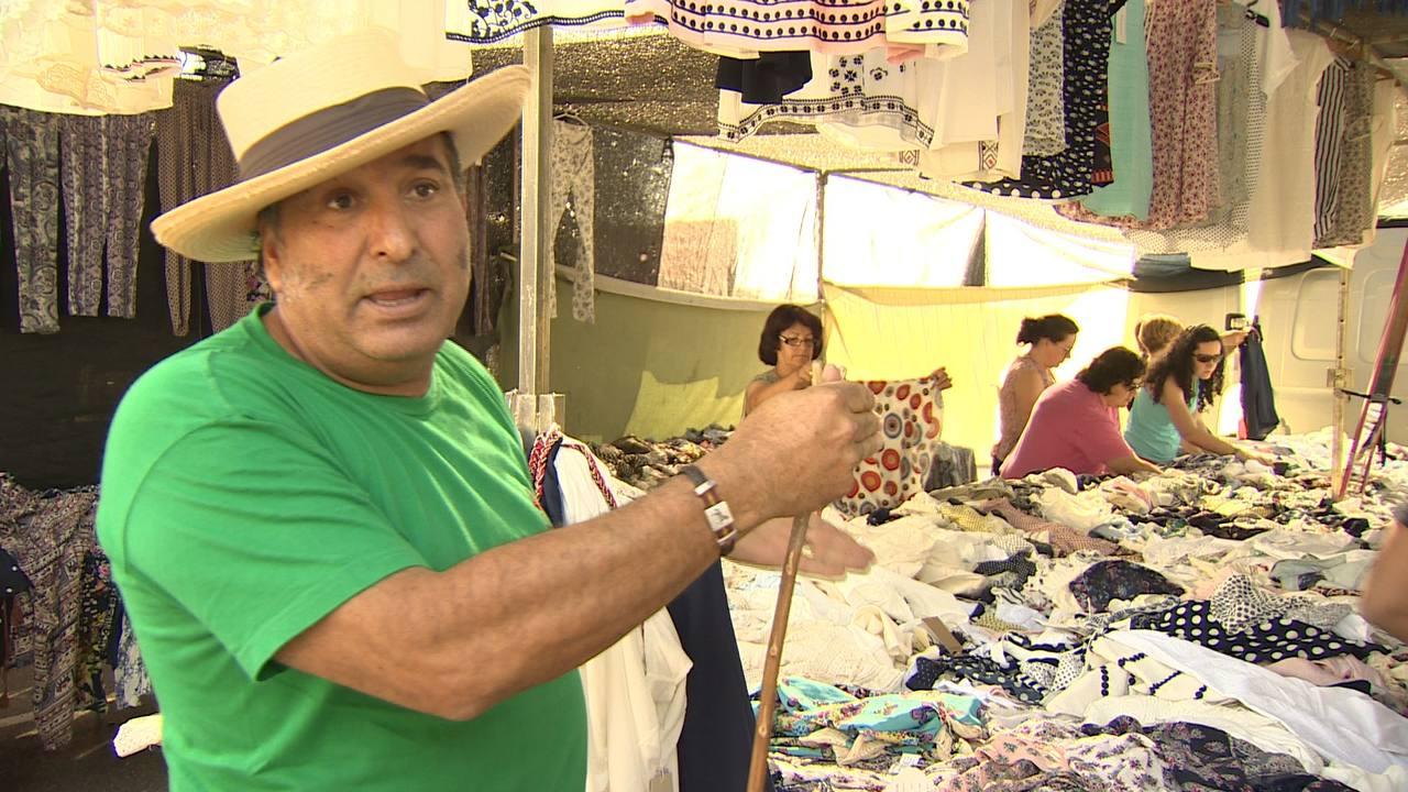 Un vendedor ambulante