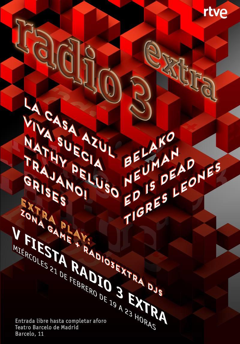 ¡Vente a la gran fiesta de Radio 3 Extra!